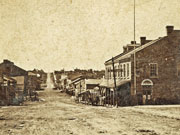 Queen Street looking west, 1865